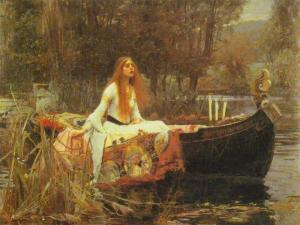 'The Lady of Shalott': J.M.Waterhouse