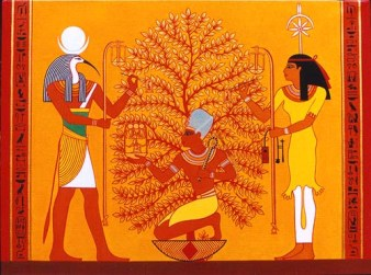 Thoth and Seshat teach the way of the Tree of Life