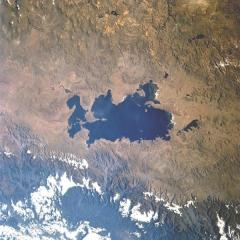 Lake Titicaca, satellite photo