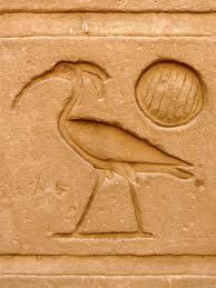 Ibis hieroglyph, Temple of Horus, Edfu