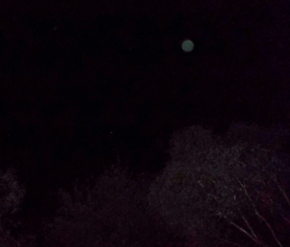 Green orb upper right of Venus, 13th May, 2015, Thoth/Ashtar energy.