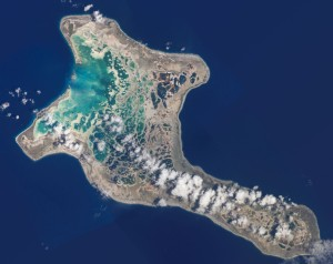 Christmas Island (Kirimati in Indonesian), photo NASA.