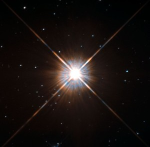 Beautiful photo of Proxima Centauri from the Hubble telescope, 2013.