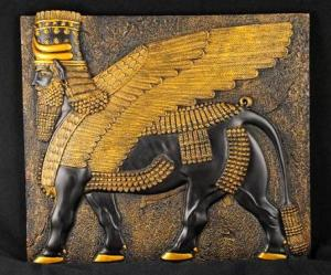 Ashur, the winged (angelic) bull. (This is how the kerubim were depicted in ancient Akkadia/Mesopotamia).