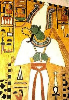Painting of Osiris, tomb of Nefertari, 1295-1253BC.