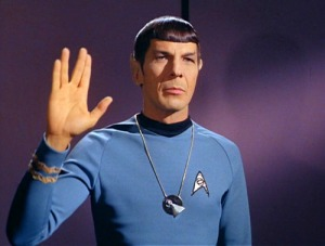 Mr Spock's 'V' hand greeting. Image: Star Trek