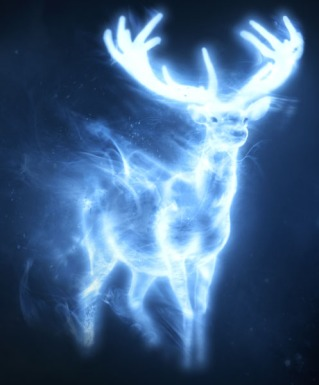 White Stag, promotional poster art, Harry Potter & the Deathly Hallows Part II, Warner Bros.