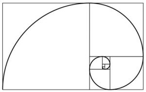 Phi curve: spiral curve of the Golden Ratio.