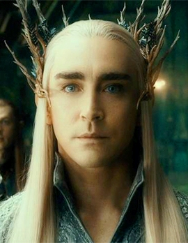 King Thranduil's crown of tiny antlers; a semi-fallen Woodland King. Image from The Desolation of Smaug, courtesy New Line Cinema/MGM.