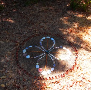 Rose Cross double infinity sacred circle in my garden.