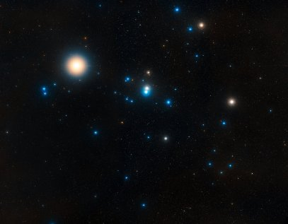 Aldebaran and the Hyades, in the Taurus constellation, Hubble telescope, photo courtesy NASA.