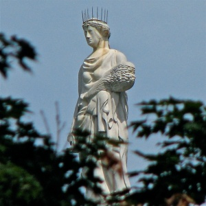 Statue of Ceres/Demeter on top of the Vermont State Capitol Building.