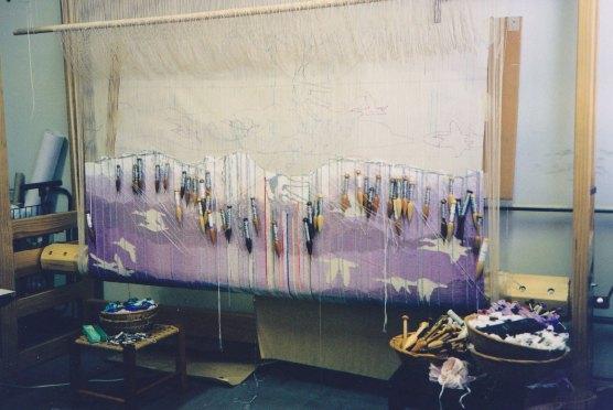 Gabriel tapestry in progress.
