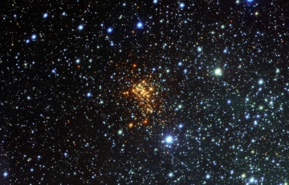 The beautiful Westerlund 1 golden cluster in the Ara constellation.