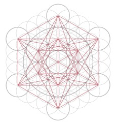 Metatron's Cube, showing Star of David/Merkaba.
