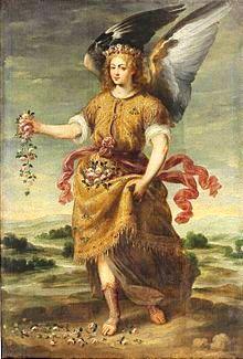 El_Arcángel_Baraquiel_esparciendo_flores,_de_Bartolomé_Román_(Museo_del_Prado)