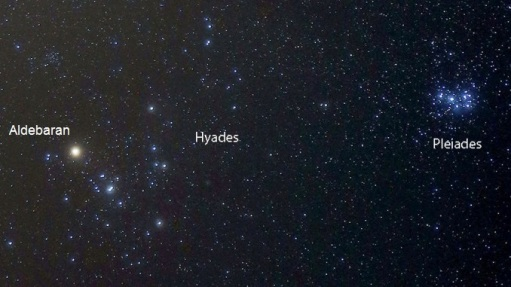 The Hyades and Pleiades star clusters in Taurs by Bob King - Copy
